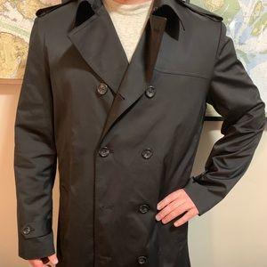 Men's Black Dress Overcoat
